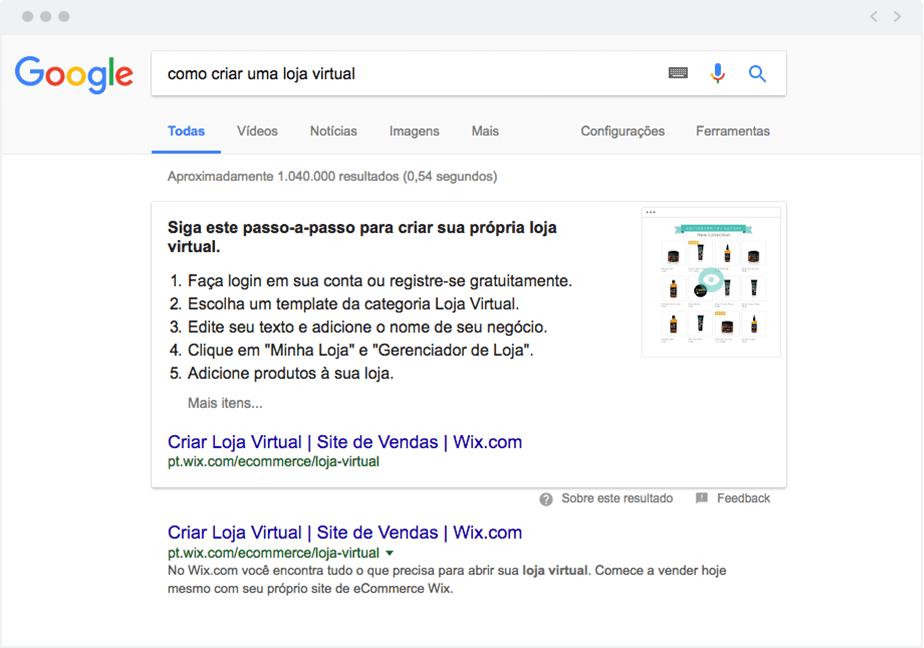 """O Google está destacando mais os """"snippets"""""""