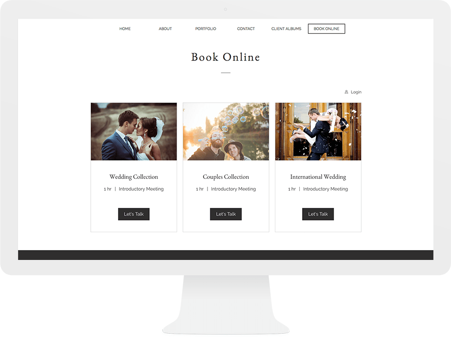 Online reservation and payment system for photographers wix booking