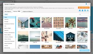 Galería de imágenes en el editor Wix