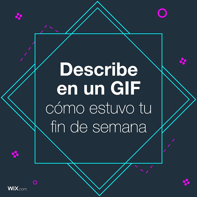 Describe con un GIF