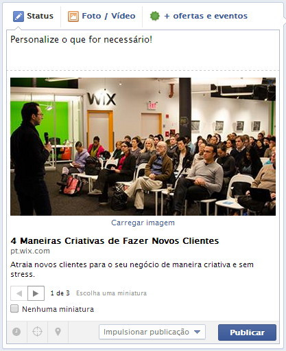 Comunidade do Wix no Facebook