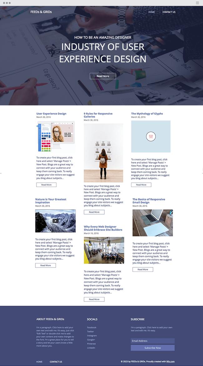Professional Designers Blog Website Template_site