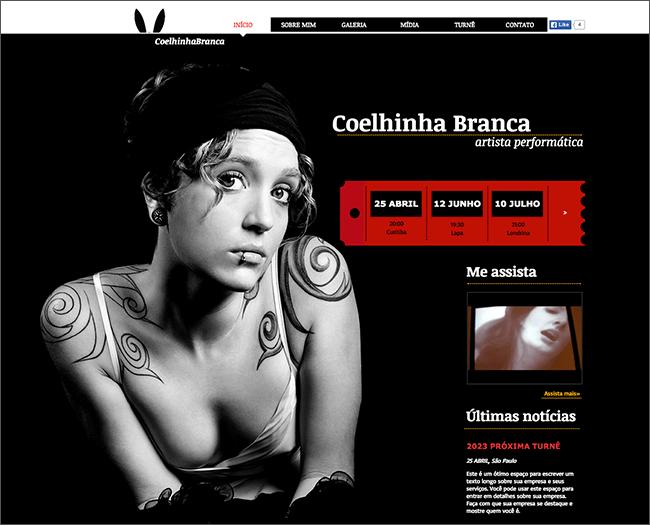 Template Wix - Coelho Branco