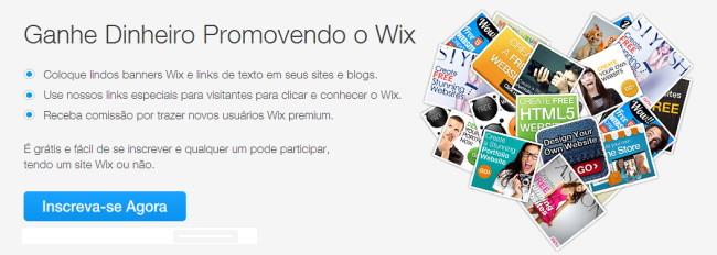 Programa de Afiliados do Wix