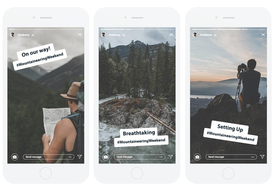 Instagram stories of an explorer photographer
