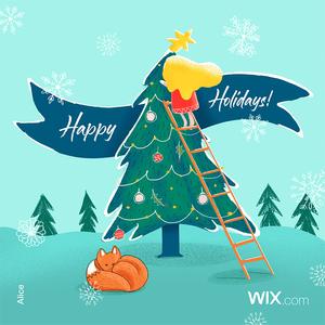Tarjetas de felicitación navideñas de la comunidad Wix