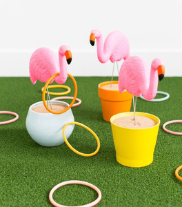 Flamingo ring toss game labor day activities picnic ideas