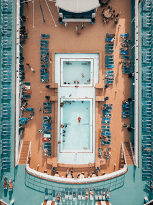 aerial view of cruise pool