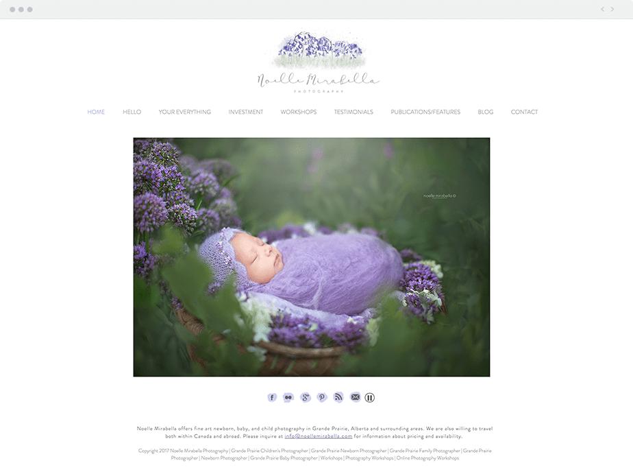 newborn photography website