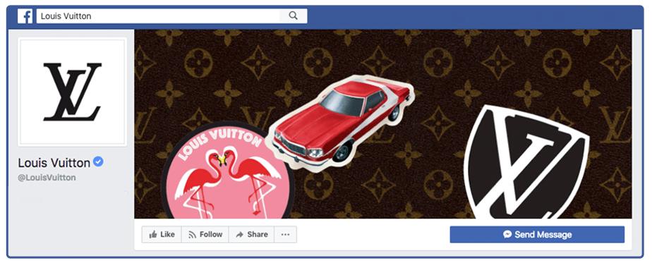 ロゴが強調されたFacebookカバー写真