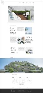 建築デザイナー向けホームページテンプレート