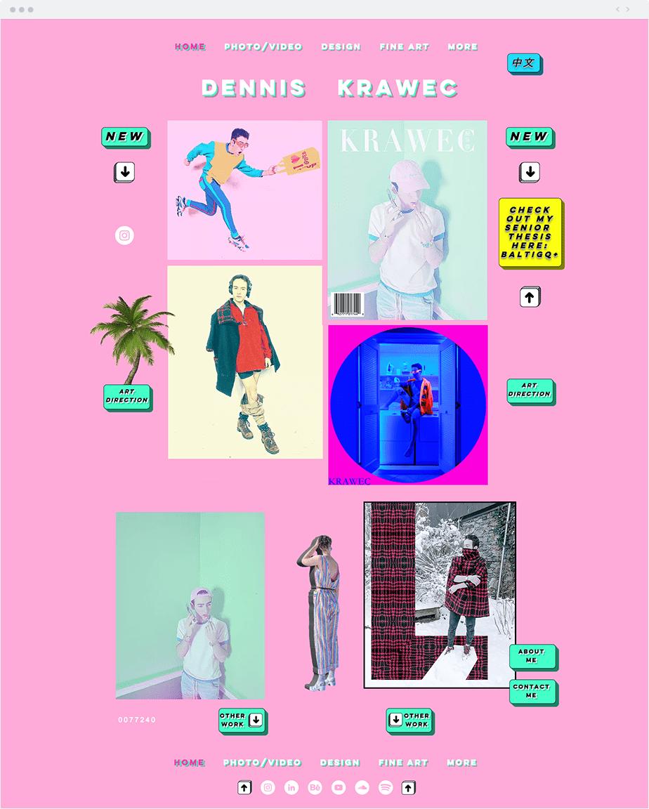 Dennis Krawec Wix website