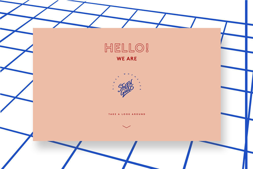 Graphic design website inspiration by Stolen Goods