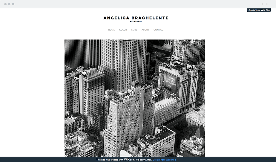 Wix Photography Websites Created for Free: Angelica Brachelente