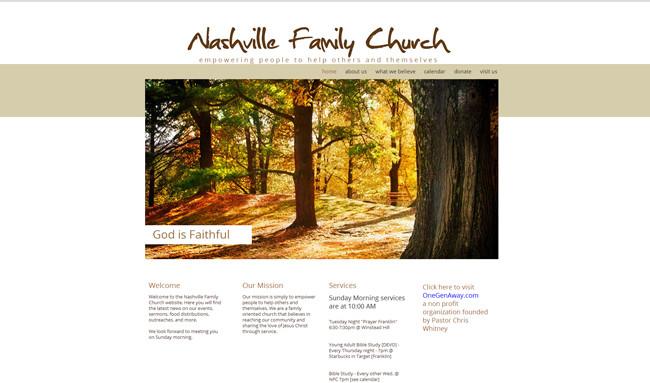 Sitio de la Nashville Family Church