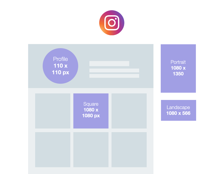 Wix social media size guide: Instagram