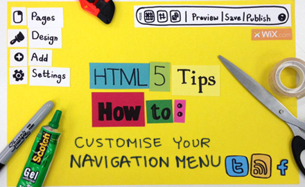 HTML5 Tips: Customize Your Navigation Menu