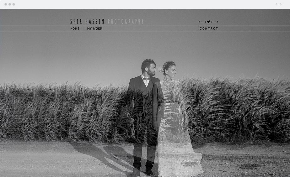 Stunning Wix online portfolio by wedding photographer Shir Hassin