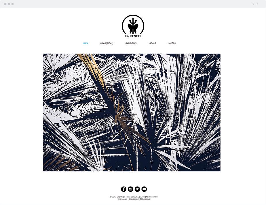 Tim Bengel Wix website