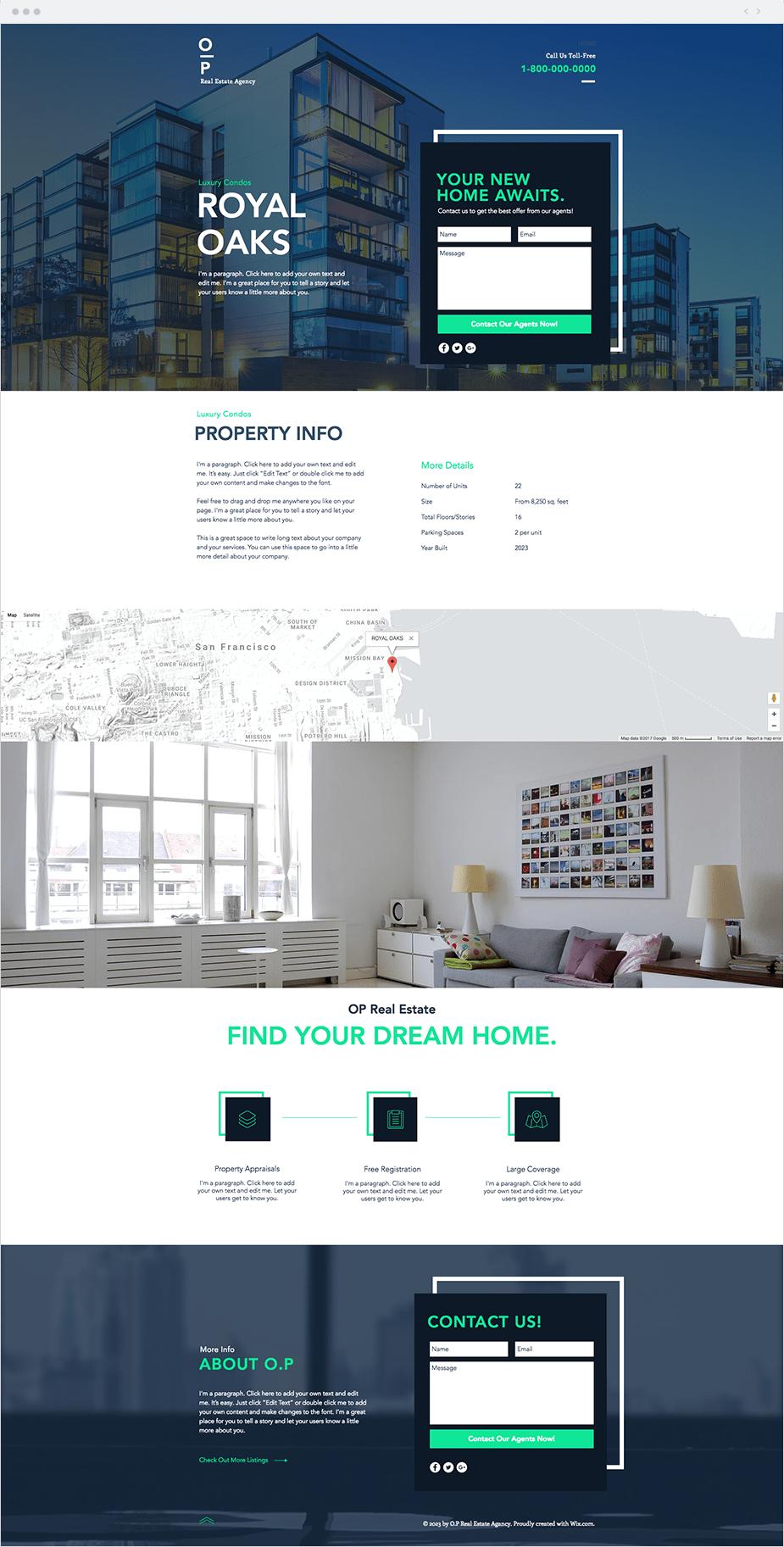 """Template Wix """"Landing Page de Imobiliária"""""""