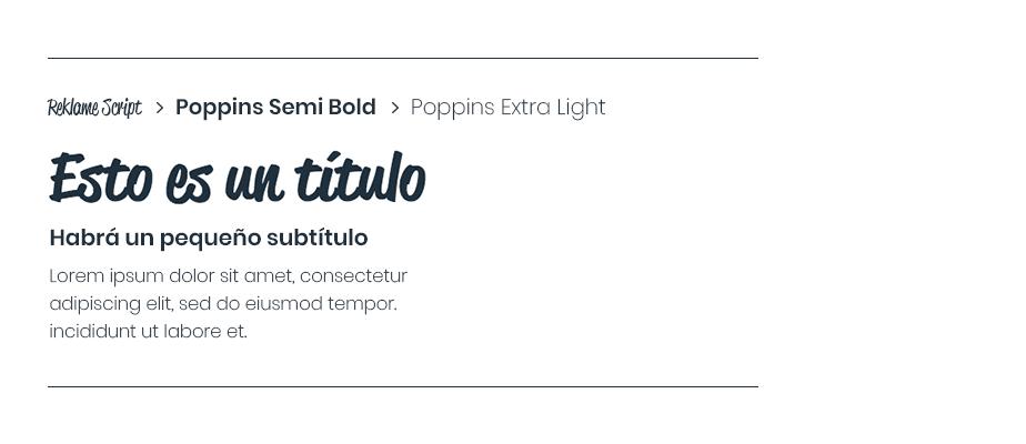 Reklame Script, Poppins Semi Bold & Poppins Extra Light