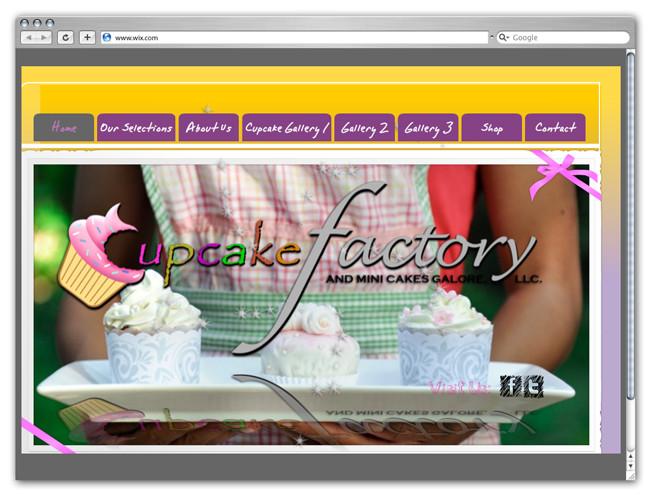 Wix Website Showcase: Cupcake Factory