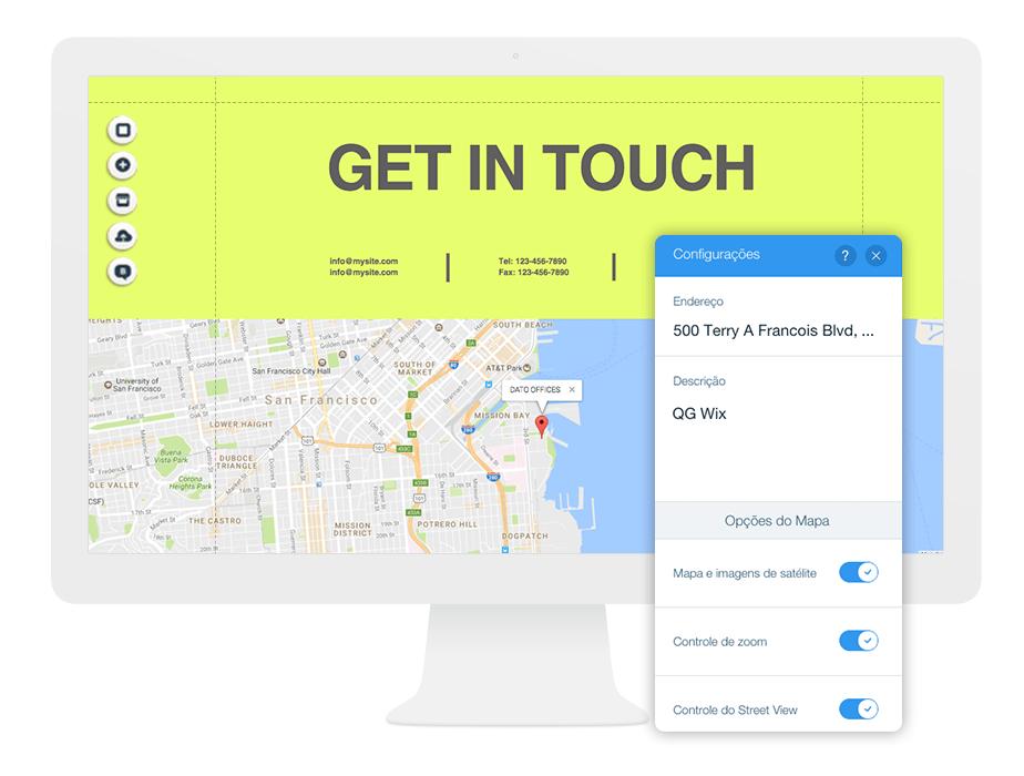 Mapas Personalizados: o X marca o local