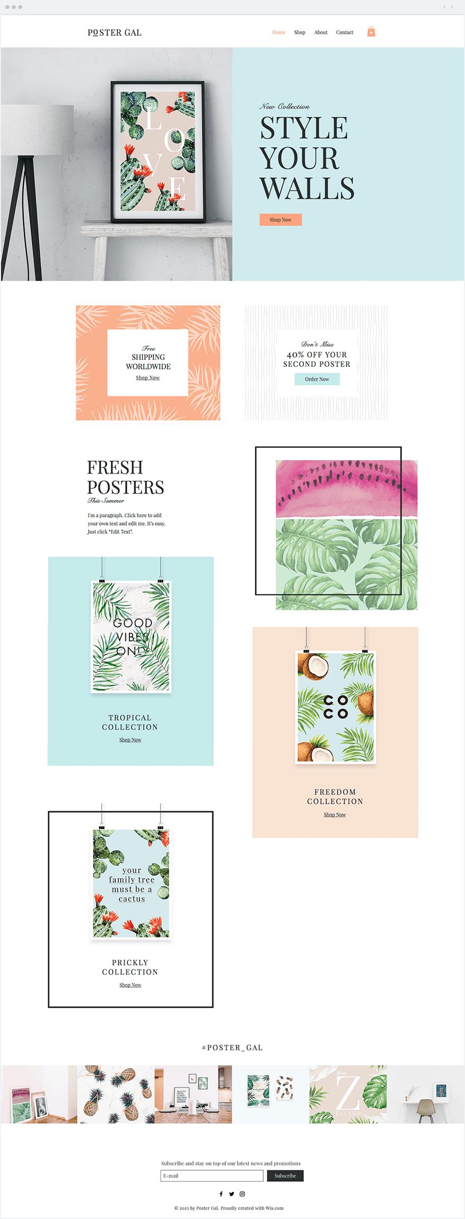 Poster Shop Website Template