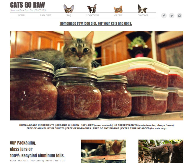 Cats Go Raw - Homemade Raw Food Diet for Pets
