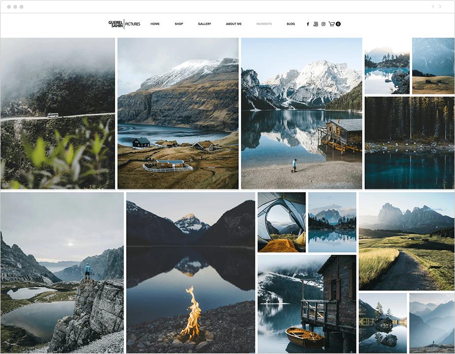 photography portfolio gallery on wix