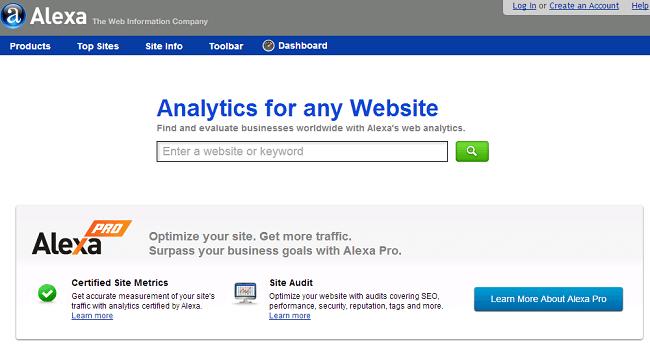 Alexaのホームページ