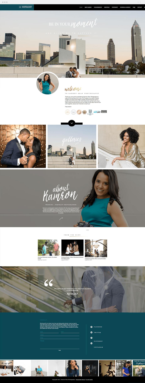 Beautiful Wix photography website by wedding photographer Kamron Khan