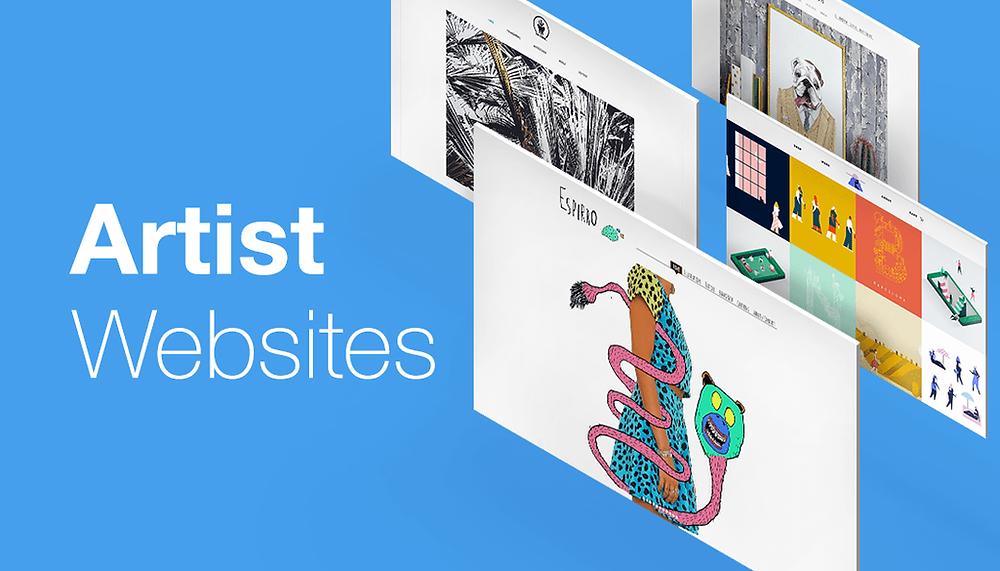 Illustrator and artist Wix websites