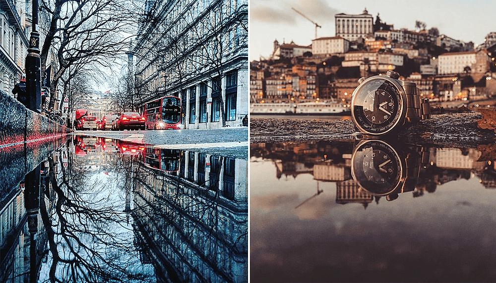 Este fotógrafo se hizo viral con sus imágenes de ciudades reflejadas en charcos