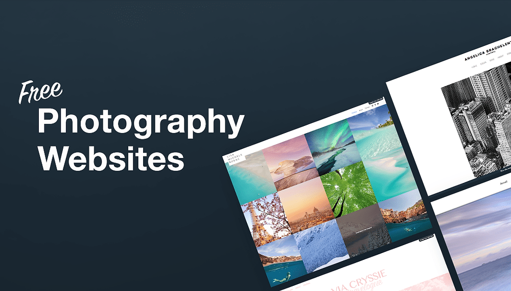 8 Sublime Photography Websites Created for Free