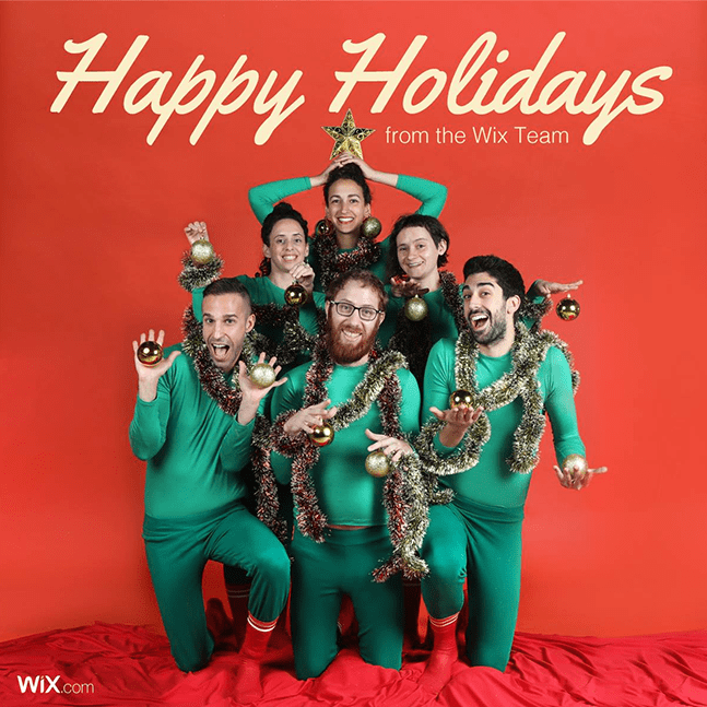 Wix social ideas: holiday greetings