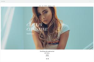 Site Wix da Modelo Caitlin Christine