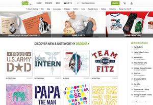Captura de Pantalla de la página web CafePress