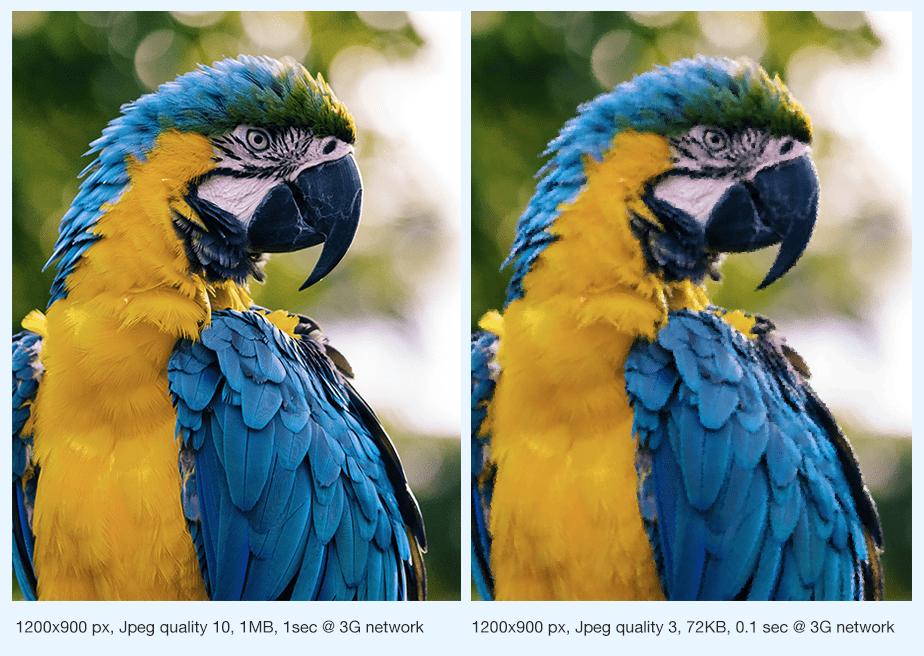 Optimización de imágenes por compresión