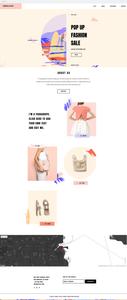 """Plantilla para tiendas """"pop-up"""" de moda"""