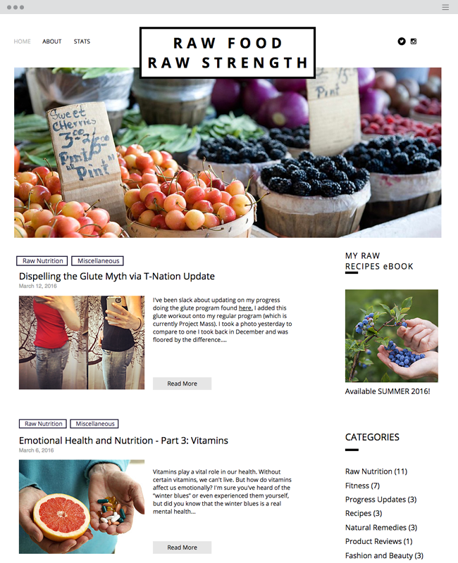 raw food raw strength
