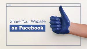 share your website link on Facebook