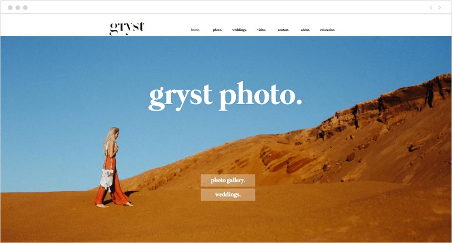 Site Wix de Jeremy Gryst