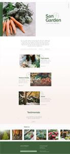 自然派ショップ向けホームページテンプレート
