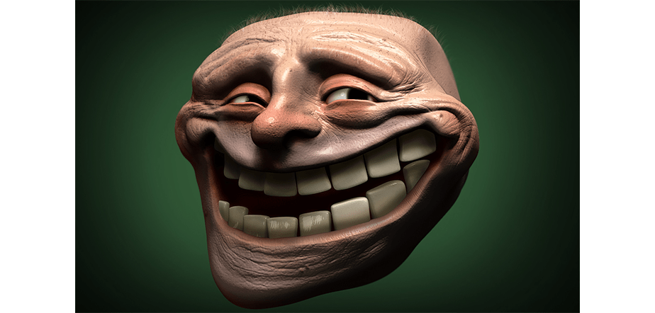 Horror Version of Trollface by Wix User Wil Hughes