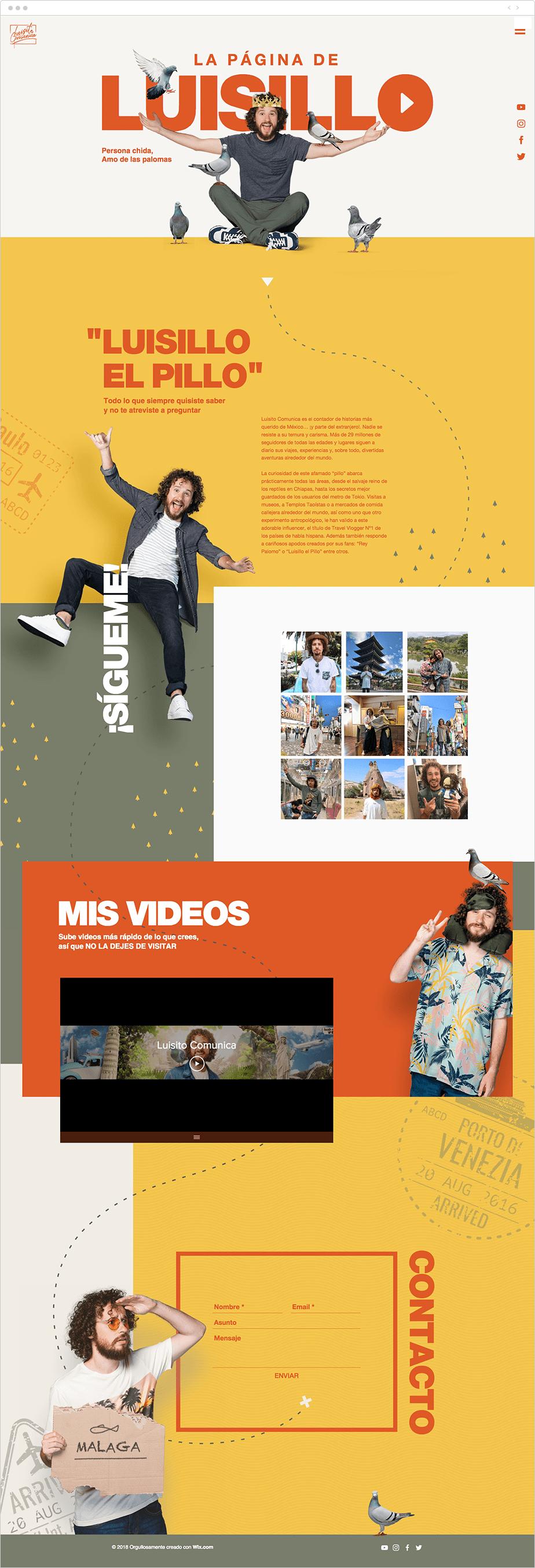 Luisito Comunica también creó una página web para sus videos