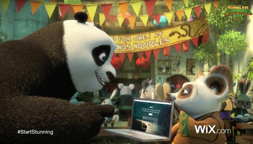 Wix' Super Bowl Campaign Has a Furry Twist… Starring Kung Fu Panda!