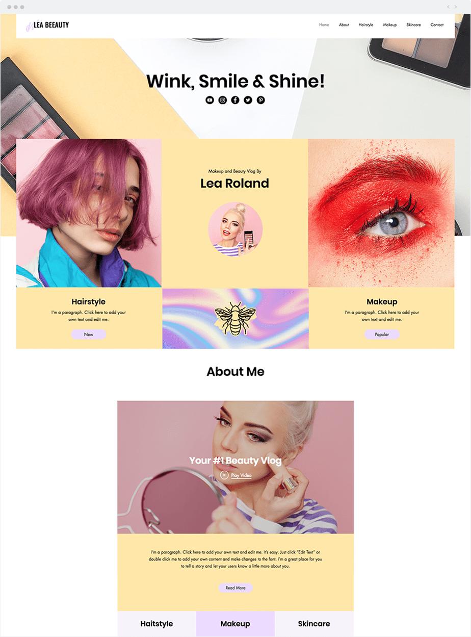 make-up brand website design