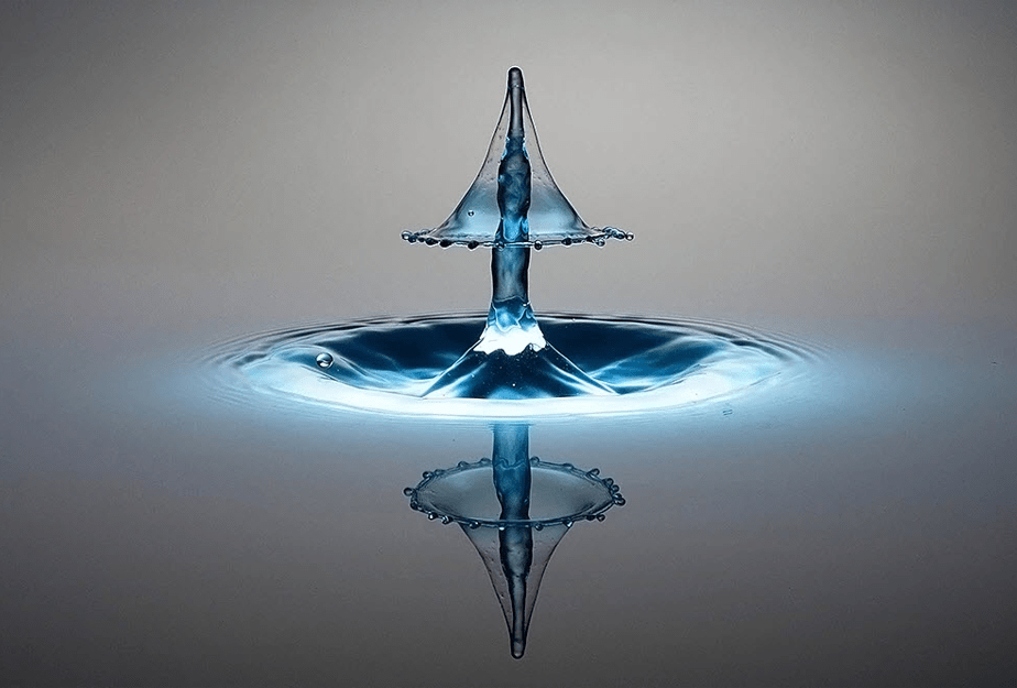 high speed photo water drop splash