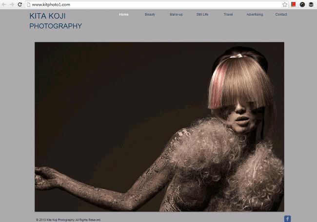 KITA KOJI PHOTOGRAPHYのホームページ